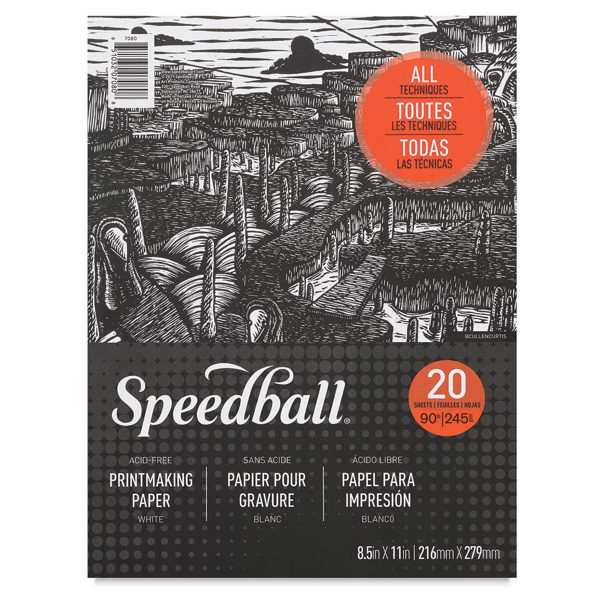 Speedball Printmaking Pad - 8-1/2 x 11, 20 Sheets, 90 lb