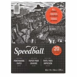Speedball Printmaking Pad - 8-1/2'' x 11'', 20 Sheets, 90 lb