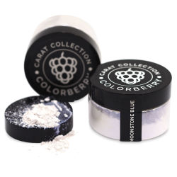 Colorberry Carat Collection Dry Resin Pigment - Moonstone Blue, 50 g, Jar (Shown in and out of jar)