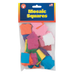Hygloss Mosaic Squares - Tissue Paper, 1'', 2500 Pieces