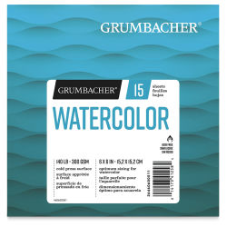 "Grumbacher Watercolor Fold Over Pad - 6"" x 6"", 15 Sheets"
