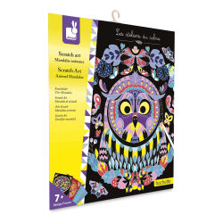 Janod Animal Mandalas Scratch Art Kit