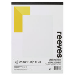 Reeves Tracing Pad - 9'' x 12'', 50 Sheets