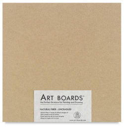 Art Boards Natural Fiber Painting Panel - 12'' x 12'' x 3/8'', Uncradled