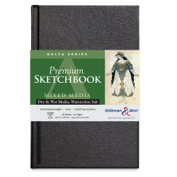 Stillman & Birn Delta Series Sketchbook - 8-1/2'' x 5-1/2'', Portrait, Hardbound, 26 Sheets