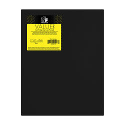 Fredrix Cut Edge Canvas Panels - 11'' x 14'', Black, Pkg of 6