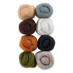 Wistyria Editions 100% Wool Roving - Rustic, Pkg of 8