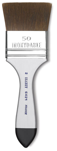 Isabey Squirrel Brush - Flat Wash, Short Handle, 2''