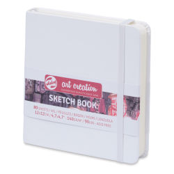 "Talens Art Creations Sketchbook - White, 4.7"" x 4.7"""