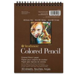 Strathmore 400 Series Colored Pencil Pad - 12'' x 9'', 30 Sheets, 100 lb