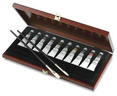 Grumbacher Pre-Tested Oils - Wood Box Set, 24 ml tube