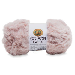 Lion Brand Go For Faux Yarn - Pink Poodle, 64 yds