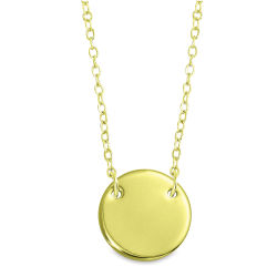 ImpressArt Personal Impressions Necklace Kit - Large Circle, Gold, Set of 5