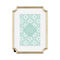 "MCS Lustered Metal Tabletop Frames - Brass, 6"" x 8"""