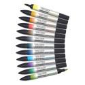 Winsor & Newton Promarker Watercolor Markers - Landscape Colors, Set of 12