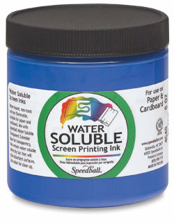 Speedball Water-Soluble Poster Ink - Blue, 8 oz