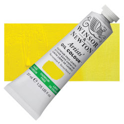 Winsor & Newton Artists' Oil Color - Cadmium Free Lemon, 37 ml, Tube with Swatch