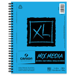 Canson XL Mix Media Pad - 10'' x 7'', Portrait, 60 Sheets
