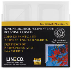 Lineco Photo Corners - 1-1/4'', Clear, Pkg of 72