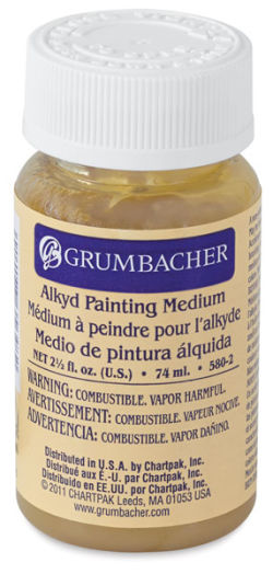 Grumbacher Alkyd Oil Painting Medium - 2.5 oz bottle