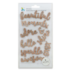 Momenta Wood Stickers - Words of Beauty
