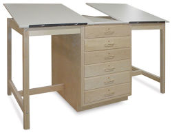 Hann Dual Station Drafting Table - H-Frame