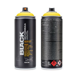 Montana Black Spray Paint - Power Yellow, 400 ml can