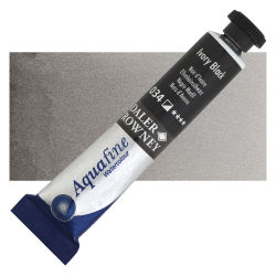Daler-Rowney Aquafine Watercolors and Sets - Ivory Black, 8 ml, Tube