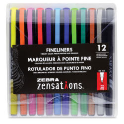 Zebra Zensations Fineliner Pens - Set of 12