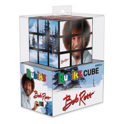 Bob Ross Rubik's Cube side view