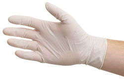 Latex Powdered Gloves, Pkg of 100