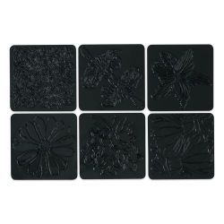 Cedar Canyon Rubbing Plates - Set of 6, Garden Flowers
