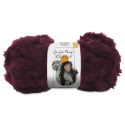 Lion Brand Go For Faux Thick And Quick Yarn - Red Panda, 24 yds