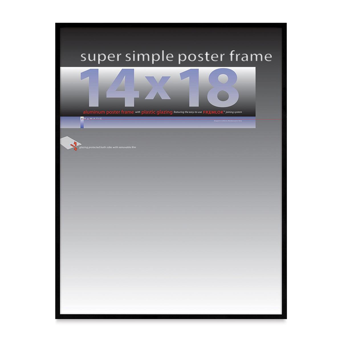 Framatic Super Simple Poster Frame - Black, 14 x 18