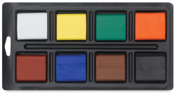 Alphacolor Biggies - Set of 8 colors, with tray