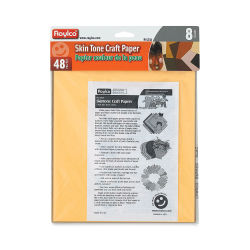 Roylco Skin Tone Craft Paper - 8-1/2'' x 11'', Pkg of 48 Sheets