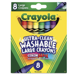 Crayola Large Ultra-Clean Washable Crayons - Set of 8