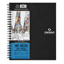 Canson Artist Series Mixed Media Book - 12'' x 9'', 30 Sheets