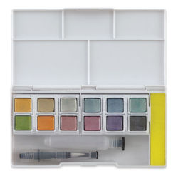 Derwent Watercolor Pans - Metallic, Set of 12