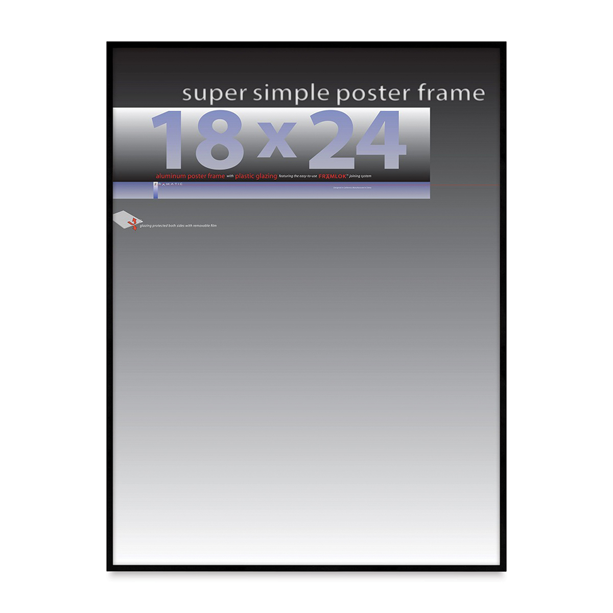 Framatic Super Simple Poster Frame - Black, 18 x 24