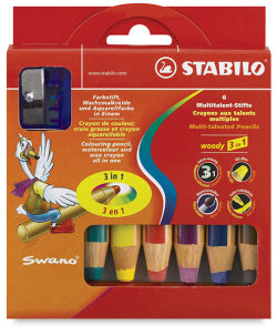 Stabilo Woody 3 in 1 Pencil - Set of 6