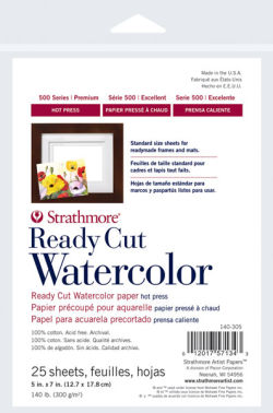 Ready Cut Watercolor Sheets, 25 Sheets