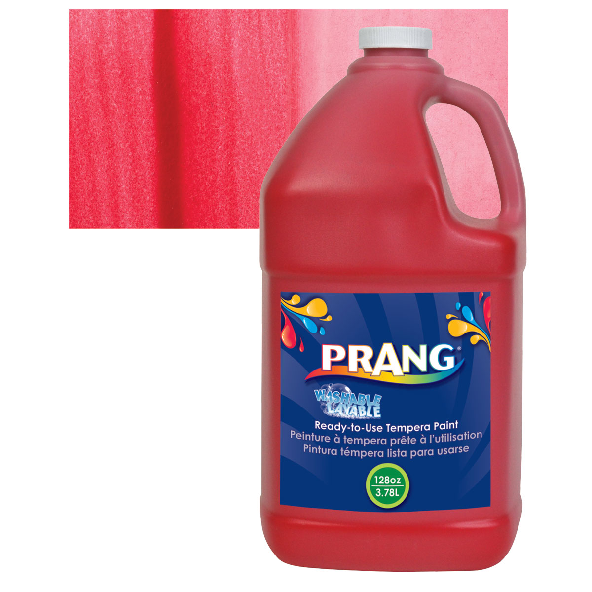 Prang Ready-To-Use Washable Tempera Paint - Red, Gallon