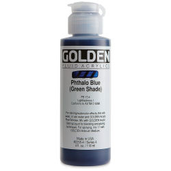 Golden Fluid Acrylics - Phthalo Blue (Green Shade), 4 oz bottle