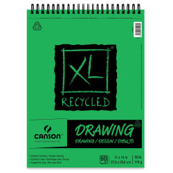 Canson XL Recycled Drawing Pad - 11'' x 14'', Wirebound Top, 60 Sheets