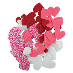 Darice Felt Heart Stickers - 66 Pieces