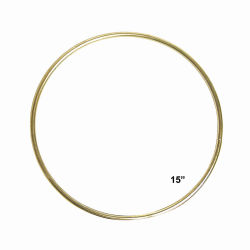 Pepperell Brass Plated Macramé Ring - 15''
