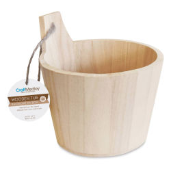 "Craft Medley Wood Bucket - 5-1/2"" W x 5-1/2"" H"