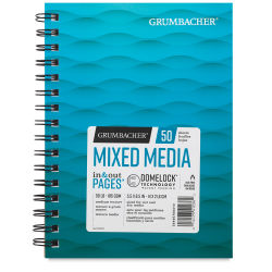 Grumbacher Mixed Media Pad - 8-1/2'' x 5-1/2''. 50 sheets