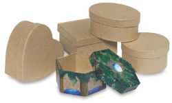Paper Mache Mini Box - 3-1/4'' x 3-1/4'', Heart